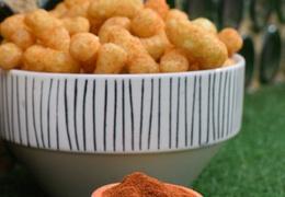 Snacks de pois cassés soufflés tomate & paprika fumé bio