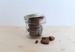 Biscuits cacao, kasha & citron vert bio, local & vegan