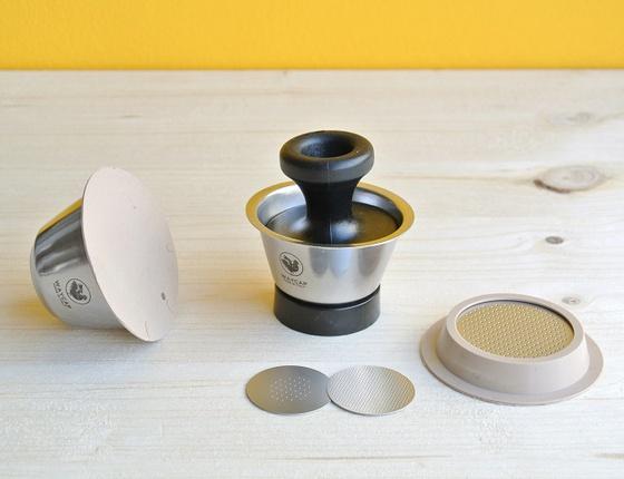Kit 2 capsules à café Dolce Gusto en inox