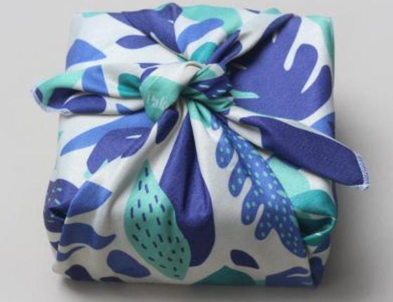 Furoshiki emballage cadeau réutilisable motif Herbier