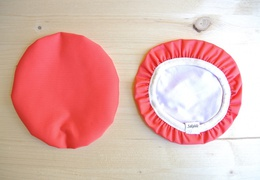 Couvre-plat 17 cm en tissu ciré rouge