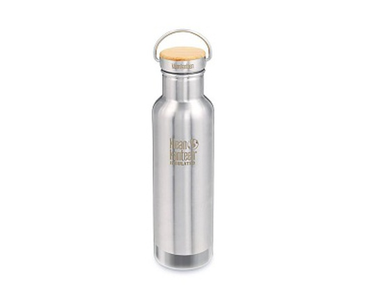 Bouteille inox 532 ml isotherme & son bouchon bambou