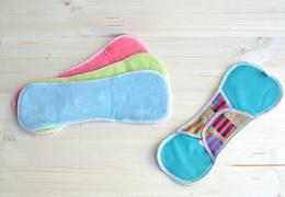 Serviette hygiènique de nuit lavable en coton velours