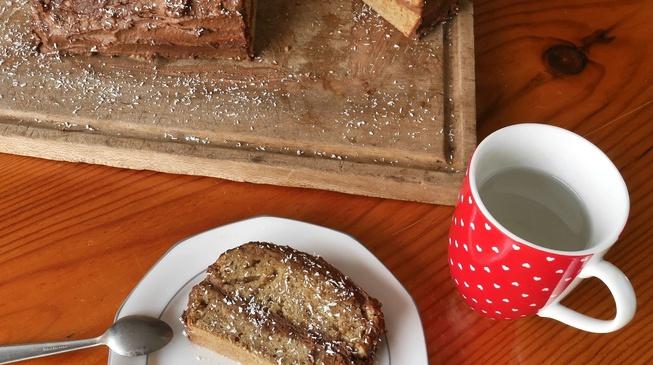 Bûche de Noël bio & végane au chocolat et à l'amande