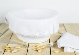 Étamine à laits végétaux en lin bio