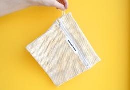 Filet de lavage zippé en coton