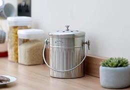 Seau à compost - composteur de cuisine en inox