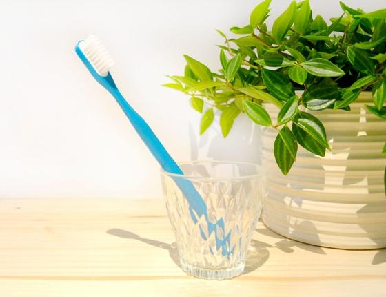 Brosse à dent à tête rechargeable bleue - poils médium
