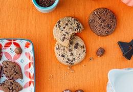 Cookies fourrés au praliné bio