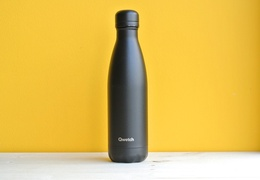 Bouteille inox 500 ml isotherme noir intégral