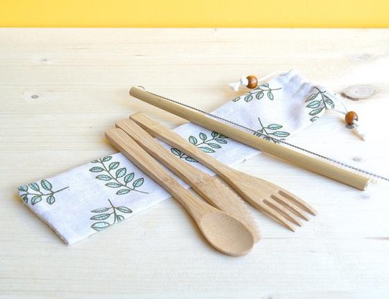 Kit de couverts en bambou