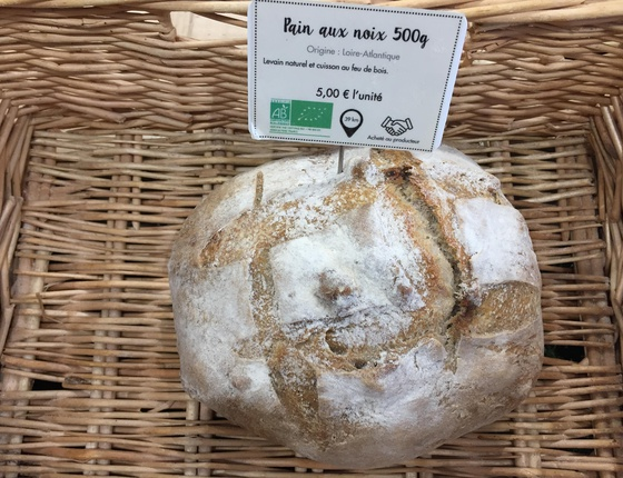 Pain aux noix 500g bio & local
