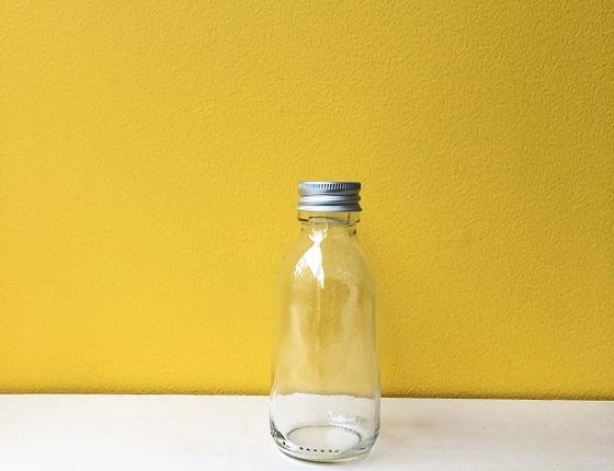 Flacon en verre transparent 125 ml