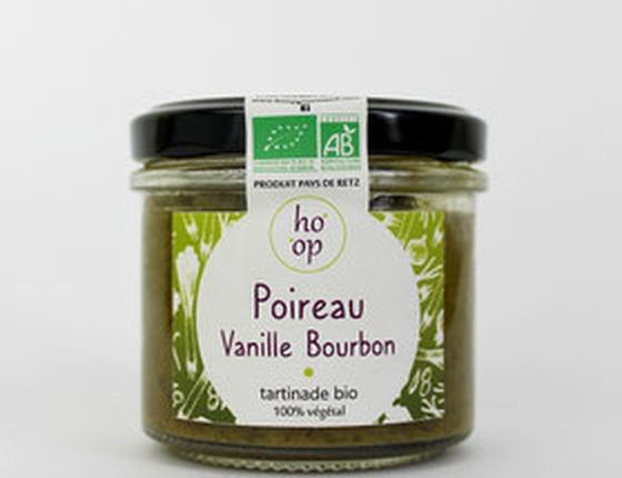 """Tartinade bio & locale 100% végétale """"Poireau à la Vanille Bourbon"""""""
