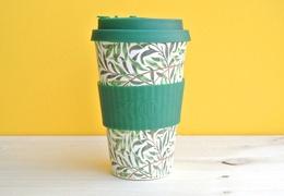 Tasse à café réutilisable en bambou coloris pommes 400ml