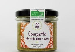 """Tartinade bio & locale 100% végétale """"Courgette - Lait de Coco - Curry"""""""