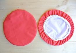 Couvre-plat 25 cm en tissu ciré rouge