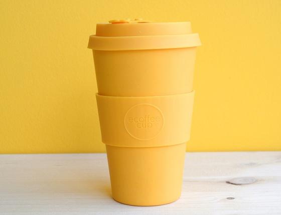 Tasse à café en bambou 400 ml coloris jaune
