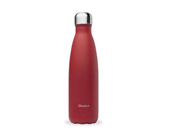 Bouteille inox 500 ml isotherme granite rouge