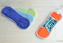 Protège-slip lavable en coton velours