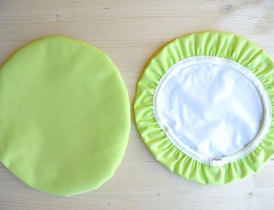 Couvre-plat 25 cm en tissu ciré vert