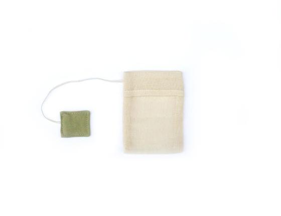 Sachet à thé réutilisable en coton bio