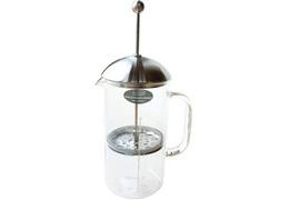 Cafetière à piston en verre et inox