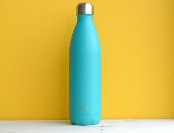 Bouteille inox 750 ml isotherme bleu lagon
