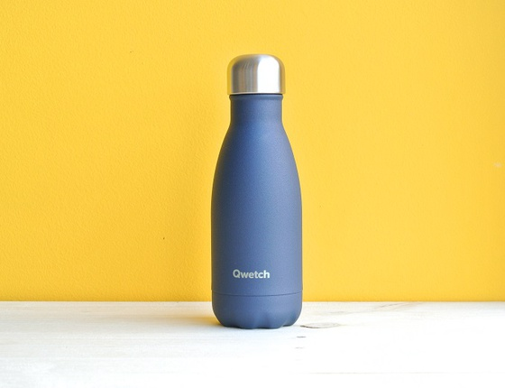 Bouteille inox 260 ml isotherme granite bleu
