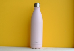 Bouteille inox 750 ml isotherme rose pastel