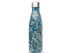 Bouteille inox 500ml fleurs bleues