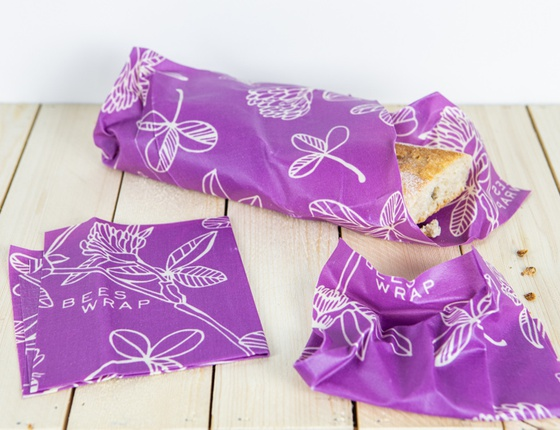Bee's Wrap assortiment violet taille S-M-L