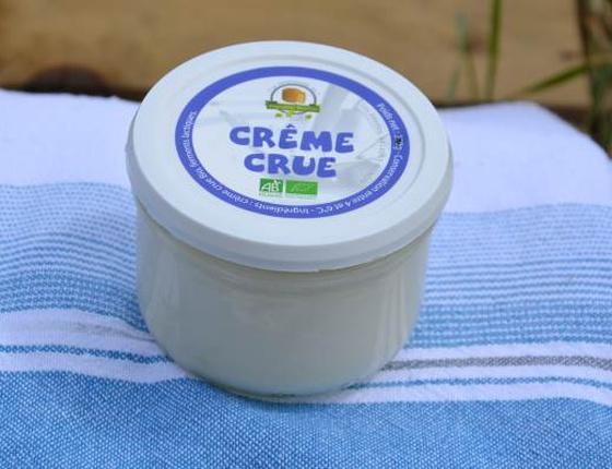 Crème crue au lait de vache bio & locale