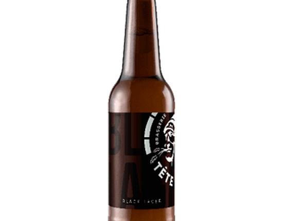 """Bière noire """"Black Lager"""" 75cl bio & locale"""