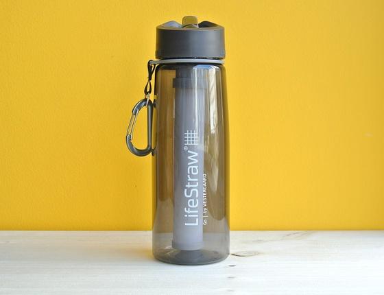 Gourde filtrante LifeStraw grise