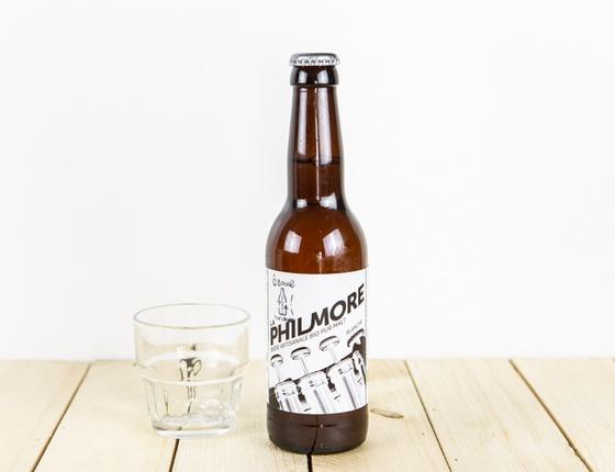 """Bière Brasserie Philmore """"blanche"""" 33cl bio & locale"""