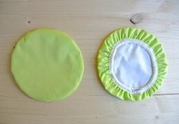 Couvre-plat 17 cm en tissu ciré vert