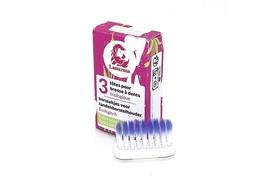 Lot de 3 têtes de brosse à dents rechargeables Lamazuna poils extra-souples