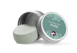 Shampooing solide Pure dans sa boite