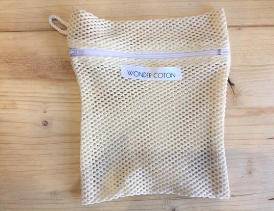 filet de lavage zippé en coton bio & local