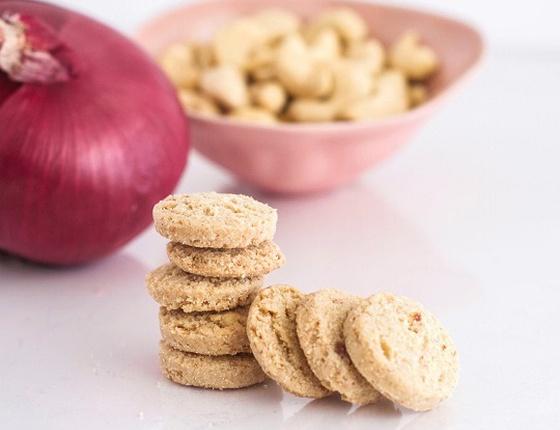 Biscuits apéro bio oignons & noix de cajou