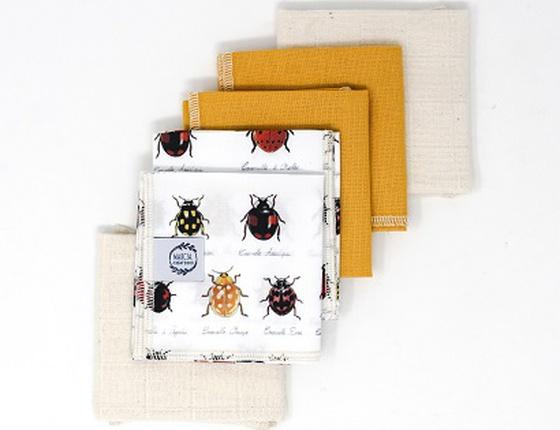 Lot de 6 mouchoirs en tissu