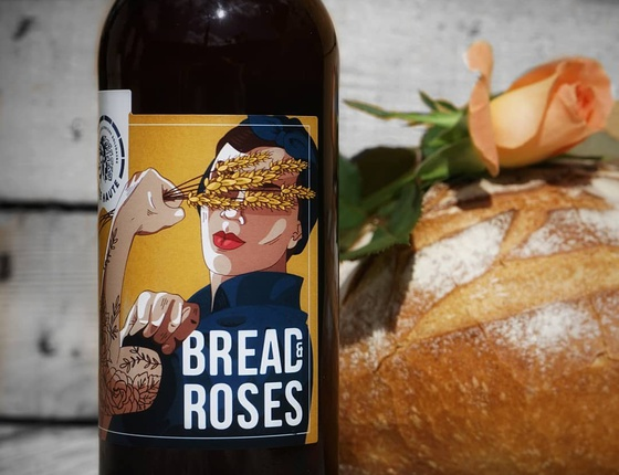 "Bière Brasserie Tête Haute ""Bread and Roses"" 33cl bio & locale"