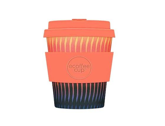 Tasse à café en bambou 250 ml motif orange