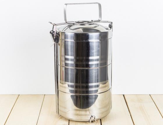 Boîte tiffin inox isotherme à 3 étages
