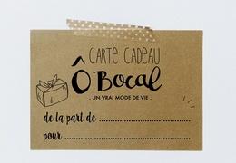 Carte cadeau Ô Bocal 100€ (bon d'achat)