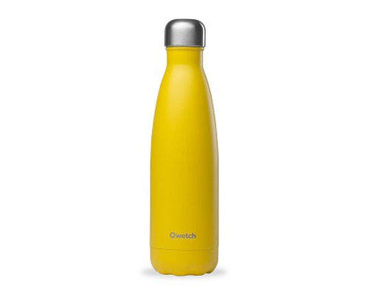 Bouteille inox 500 ml isotherme jaune pop