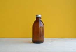 Flacon en verre teinté 250 ml