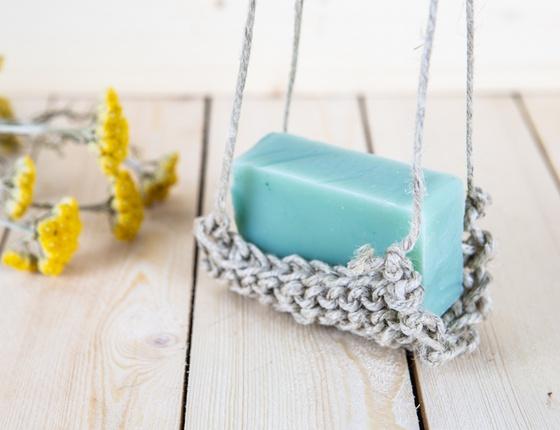 Porte savon en chanvre