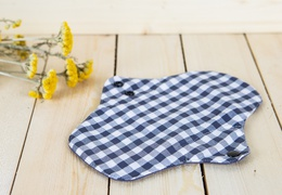 Serviette hygiénique lavable en coton absorption médium